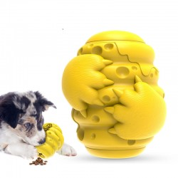 Rubber bite resistant puzzle interactive pet dog teething toy dog toothbrush