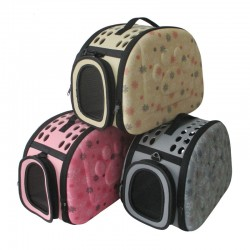 EVA+Knitted Fabric Pet Folding Outing Bag Pet Travel Carrier For Dog And Cat