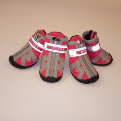 Bichon Schnauzer Teddy can't run off the new style small and medium dog outdoor shoes