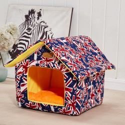 Cat Closed Pet House With Removable And Washable Cat Sleeping Bag Kennel