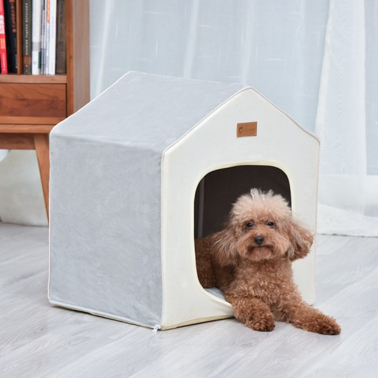 Small Dog Pet Cat Litter Pad Dog House Removable And Washable Cute Cat House